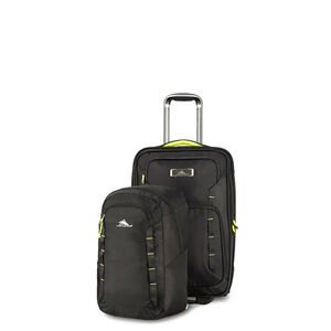 AT8 Wheeled Carry-on with Pack N Go Backpack in the color Black Zest.