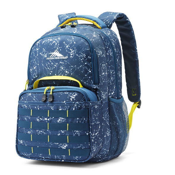 High Sierra Joel Lunch Kit Backpack in the color Space Creatures/Rustic Blue/Glow.