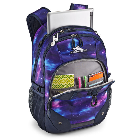 High Sierra Zestar Backpack in the color Cosmos/Midnight Blue.