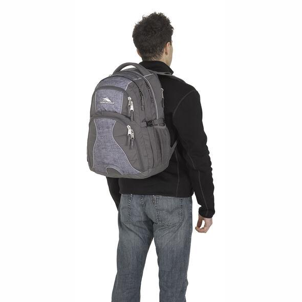 High Sierra Swerve Backpack in the color Woolly Weave/Mercury/Crimson.