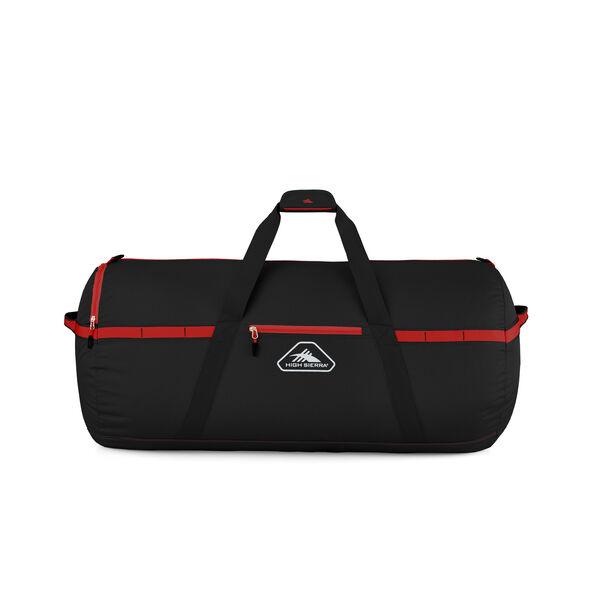 "High Sierra Packed Cargo Duffles 30"" Medium Duffel in the color Black/Crimson Red."
