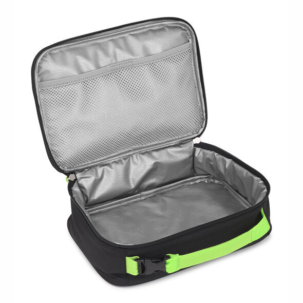 High Sierra Single Compartment Lunch Bag in the color Lime Fire/Black/Lime.