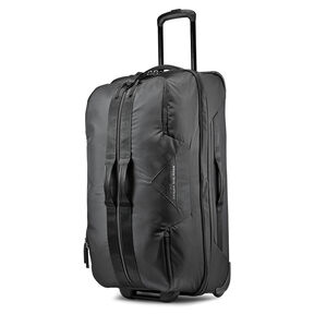 """High Sierra Dells Canyon 34"""" Wheeled Duffel in the color Black/Black."""