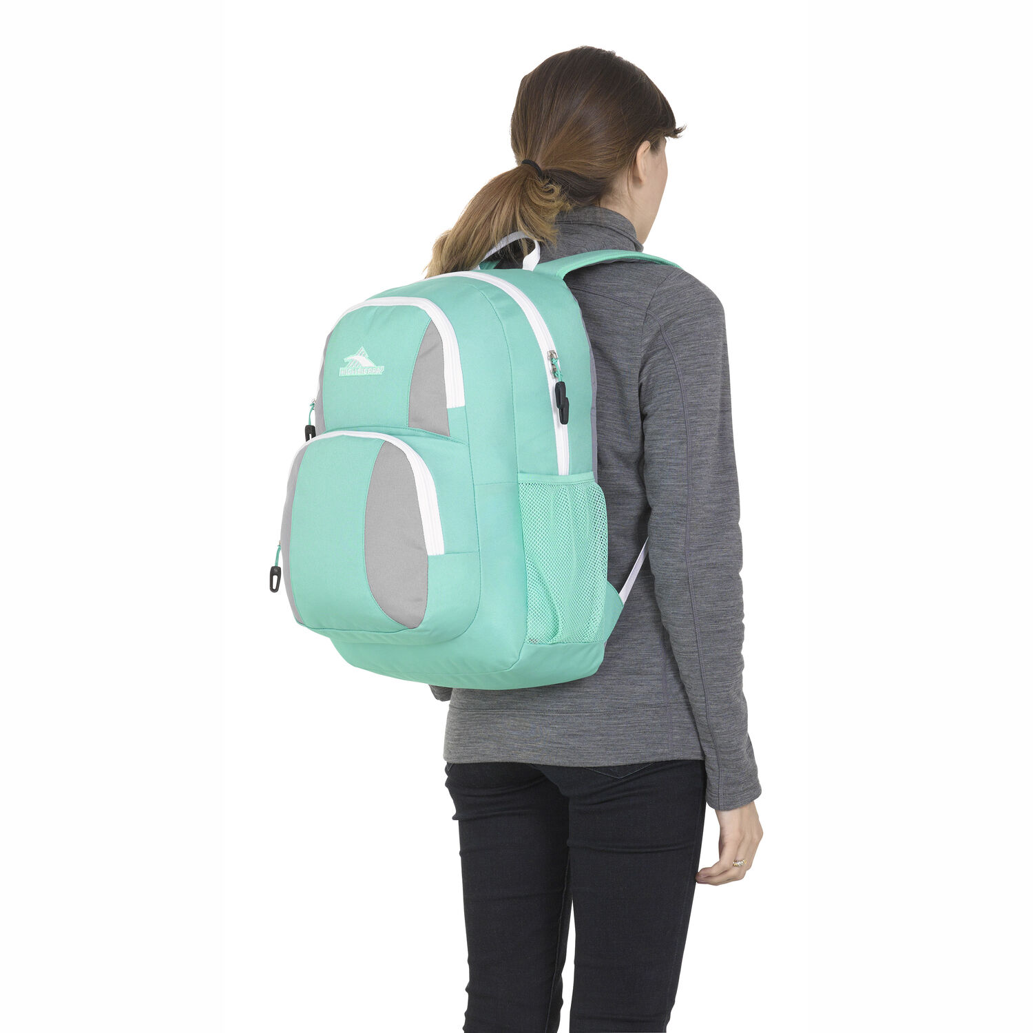 High Sierra Pinova Backpack in the color Aquamarine Ash White. f3db78b2c0929