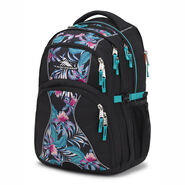 High Sierra Swerve Backpack in the color Black/Tropic Nights/Turquoise.
