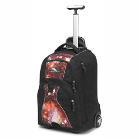High Sierra Freewheel Wheeled Backpack in the color Black/Space Age.