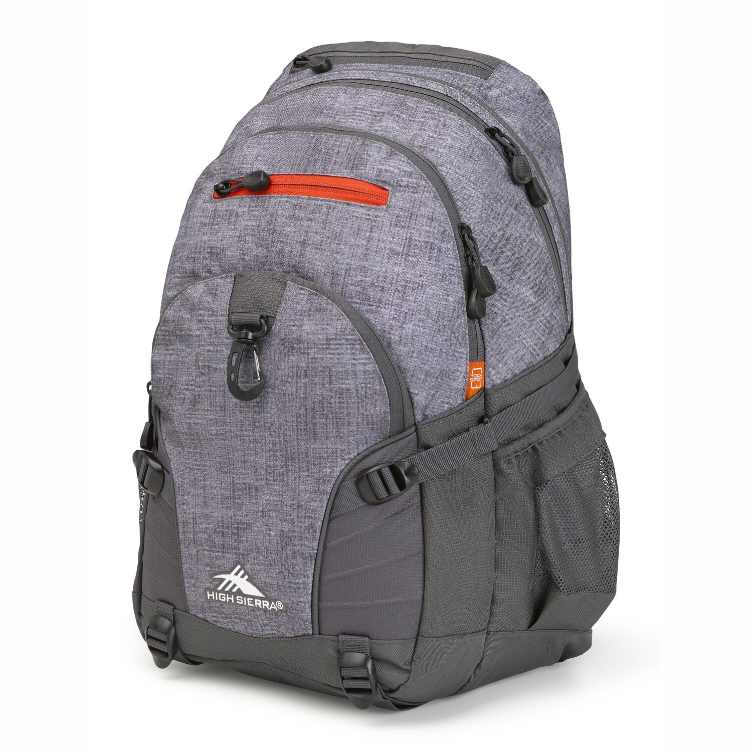 4452aa740989 High Sierra Loop Backpack in the color Woolly Weave Mercury Crimson.