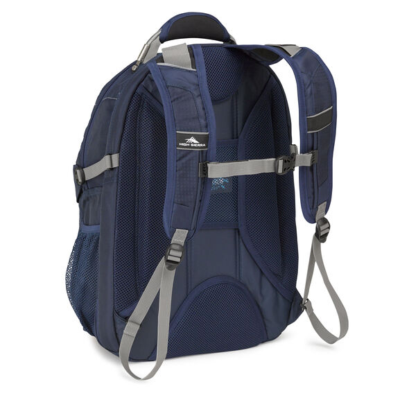High Sierra XBT TSA Backpack in the color Navy Charcoal.