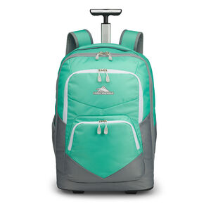 Freewheel Pro Wheeled Backpack in the color Aquamarine/White.