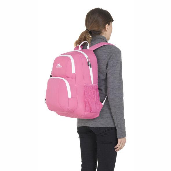 High Sierra Pinova Backpack in the color Pink Lemonade/White.