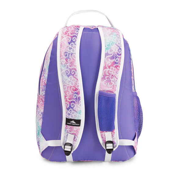 High Sierra Curve Backpack in the color Delicate Lace/Lavender/White.