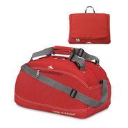 "High Sierra 24"" Pack-N-Go Duffel in the color Carmine Red."