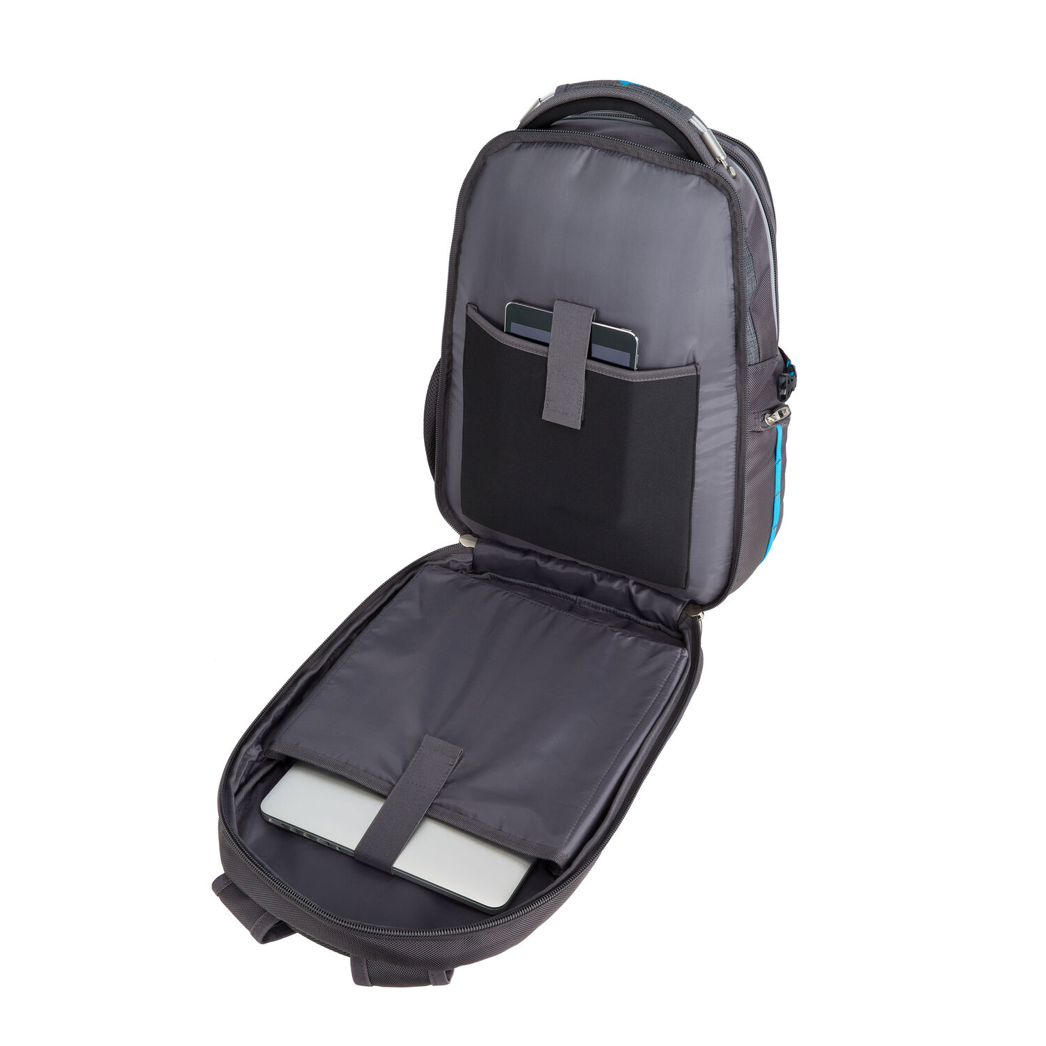 830d186aa3 High Sierra Vuna Travel Pack in the color Black Charcoal.