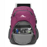 High Sierra Vesena Backpack in the color Berry Blast/Mercury.