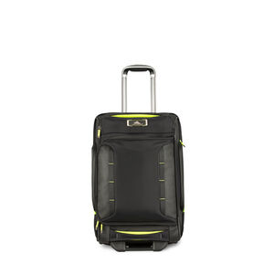 AT8 Carry-On Wheeled Duffel Upright in the color Black Zest.