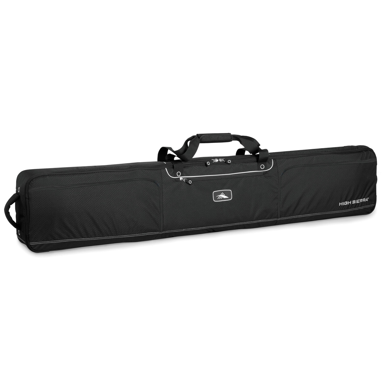 544a6d69964 High Sierra Wheeled Double Ski Snowboard Bag in the color Black Black.