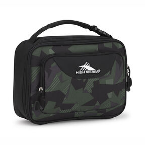 High Sierra Single Compartment Lunch Bag in the color Shattered Camo/Black.