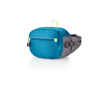 High Sierra HydraHike 3L Waist Pack in the color Lagoon/Slate/Zest.