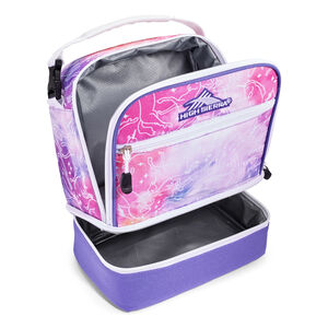 Stacked Compartment Lunch Bag in the color Unicorn Clouds/Lavender/White.