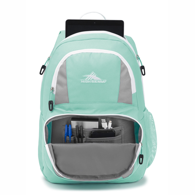 High Sierra Pinova Backpack in the color Aquamarine Ash White. 2435e47fab