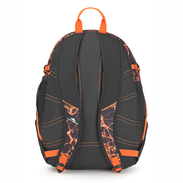 High Sierra Fatboy Backpack in the color Fireball/Black/Electric Orange.