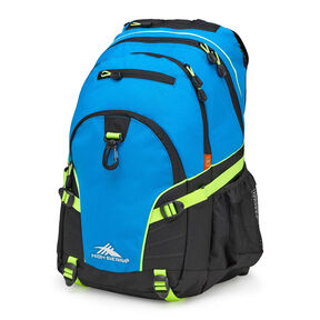 High Sierra Loop Backpack in the color Pool/Black/Zest.