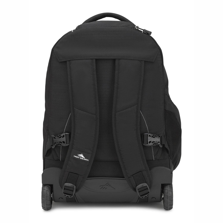 1ba862fdc8 High Sierra Freewheel Wheeled Backpack in the color Black.