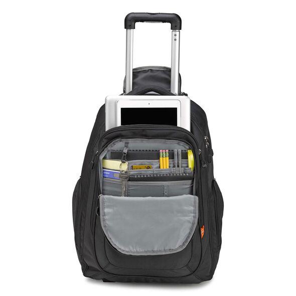 High Sierra Rev Wheeled Backpack in the color Black.