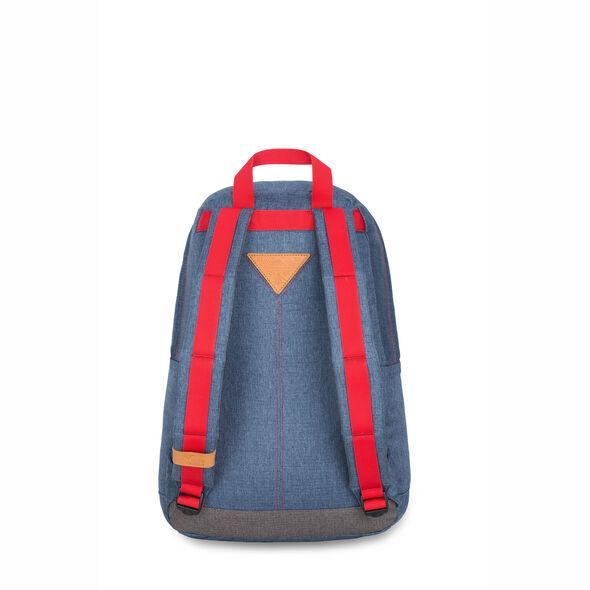 High Sierra HS78 Tear Drop Backpack in the color Dusty Blue/Slate/Crimson.