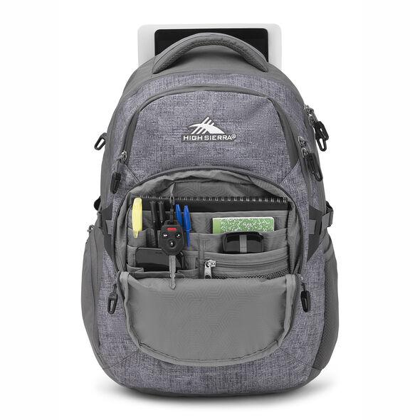High Sierra Jarvis Backpack in the color Woolly Weave/Slate.
