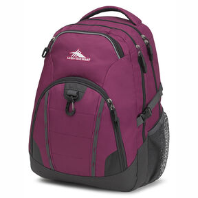 High Sierra Vesena Backpack in the color Berry Blast/Mercury.