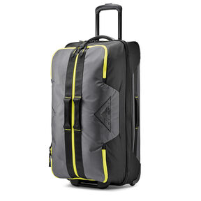 "High Sierra Dells Canyon 28"" Wheeled Duffel in the color Mercury/Black/Glow."