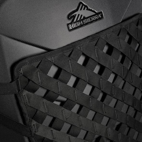 "High Sierra OTC Hardside 30"" Upright in the color Black/Black/Black."
