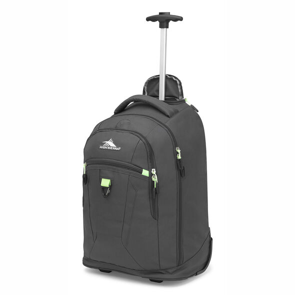 High Sierra Drydin Wheeled Backpack in the color Mercury/Lime.