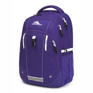 High Sierra Zestar Backpack in the color Deep Purple/White.