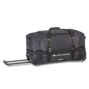 "Winslow 28"" Wheeled Drop-Bottom Duffel in the color Black/Ash."