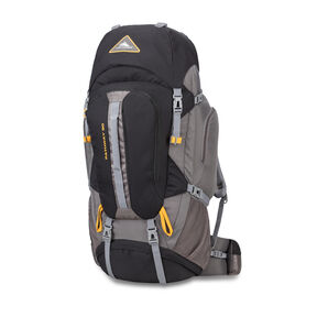 High Sierra Pathway 90L Pack in the color Black/Slate/Gold.