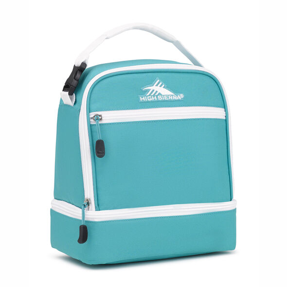 High Sierra Stacked Compartment in the color Turquoise/White.