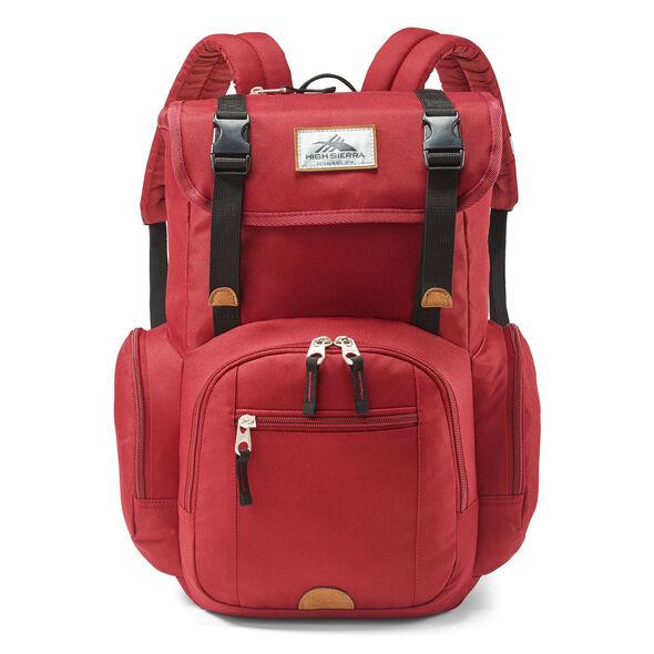 High Sierra Emmett 2 Backpack in the color Chili Pepper/Black.