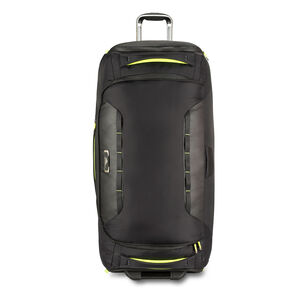 "AT8 34"" Wheeled Duffel in the color Black Zest."