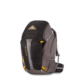 High Sierra Pathway 50L Pack in the color Black/Slate/Gold.