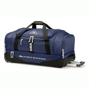 "High Sierra Pathway 28"" Wheeled Drop-Bottom Duffel in the color Maritime/Black/Ash."