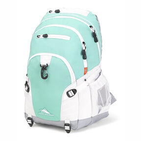 High Sierra Loop Backpack in the color Aquamarine/Ash/White.