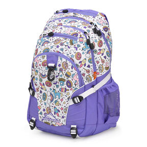 High Sierra Loop Backpack in the color Sweet Cakes/ Lavender/White.