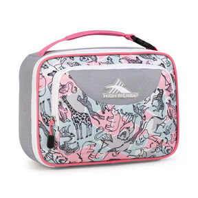 50f9bcd568 High Sierra Lunch Packs Single Compartment in the color Safari Ash Pink  Lemonade.