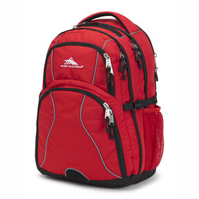 High Sierra Swerve Backpack in the color Crimson/Black.