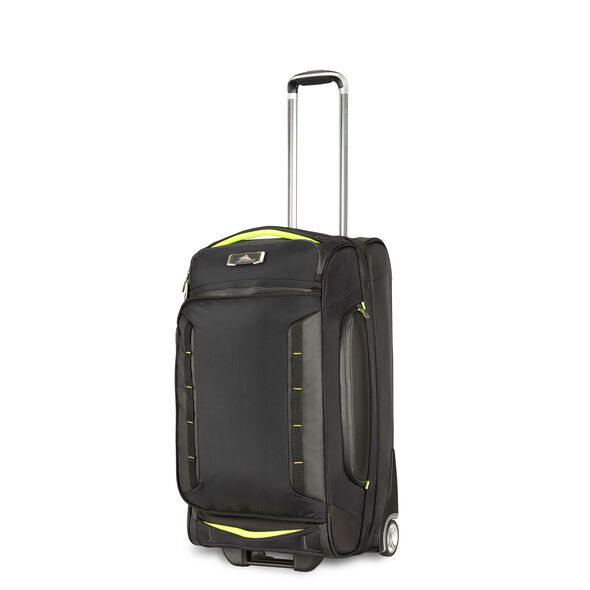 """High Sierra AT8 26"""" Wheeled Duffel Upright in the color Black Zest."""