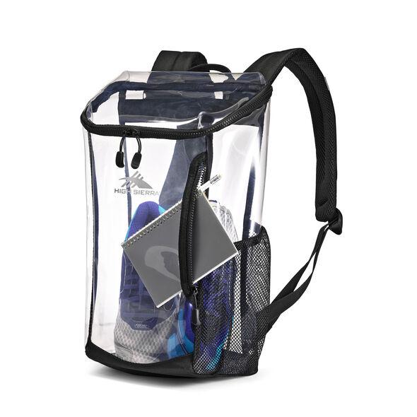 High Sierra Clear Toploader Backpack in the color Black.