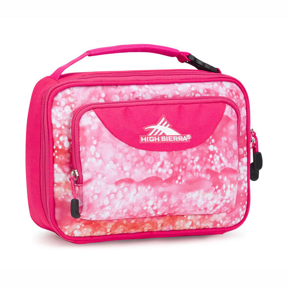 High Sierra Single Compartment Lunch Bag in the color Effervescent/Flamingo.