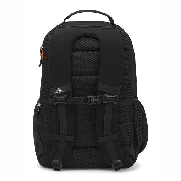 High Sierra Rownan Backpack in the color Black Canvas.